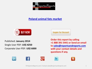 Poland animal fats Industry analysis and overview