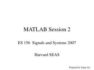MATLAB Session 2