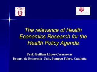 The relevance of Health Economics Research for the Health Policy Agenda