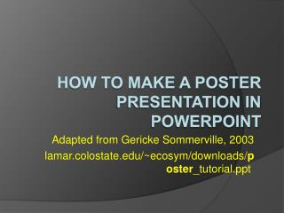 How to make a Poster Presentation in PowerPoint