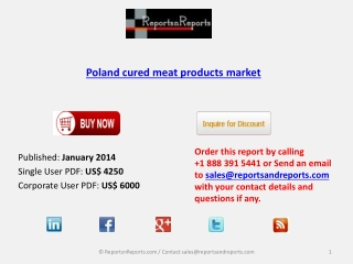 Poland cured meat products market Forecasts