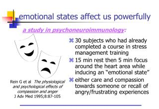Emotional states affect us powerfully