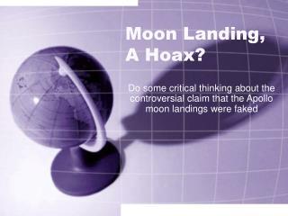 Moon Landing, A Hoax