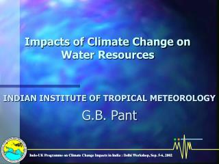 Impacts of Climate Change on Water Resources