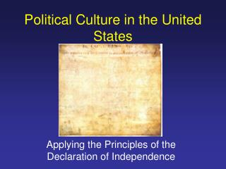 Political Culture in the United States