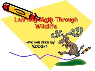 Learning Math Through Wildlife
