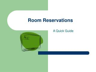 Room Reservations