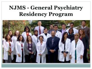 NJMS - General Psychiatry Residency Program