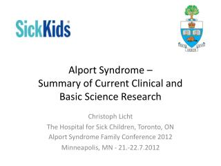 Alport Syndrome   Summary of Current Clinical and Basic Science Research