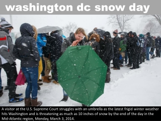 washington dc snow day