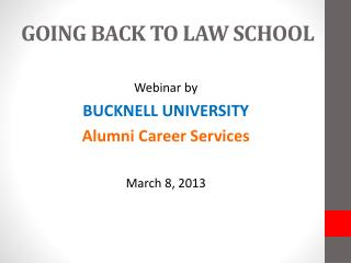 GOING BACK TO LAW SCHOOL