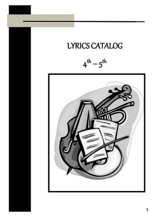 LYRICS CATALOG 4th   5th