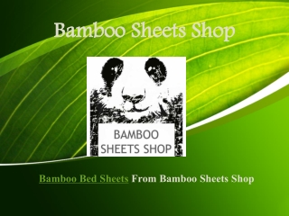 Bamboo Bed Sheets From Bamboo Sheets Shop