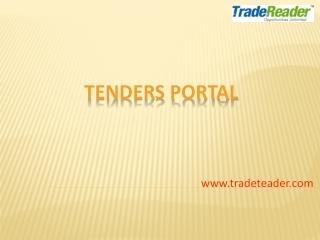 TradeReader Website Demo For Tender User