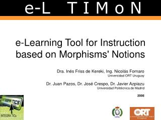E-Learning Tool for Instruction based on Morphisms Notions