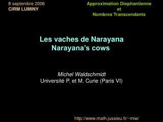 Approximation Diophantienne  et  Nombres Transcendants
