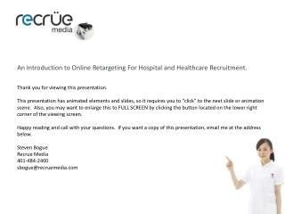 Retargeting For Hospital and Healthcare Recruitment