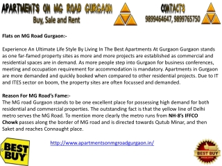 Apartments on MG Road Gurgaon