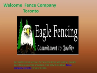 Fence Company Toronto