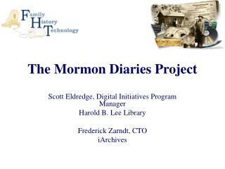 The Mormon Diaries Project