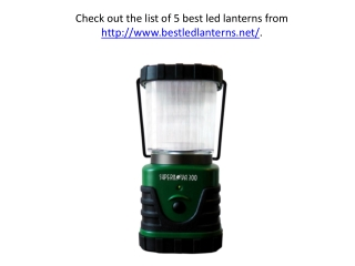 Name five LED Lamps/Lanterns for backpack camping