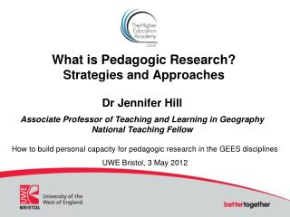 What is Pedagogic Research  Strategies and Approaches