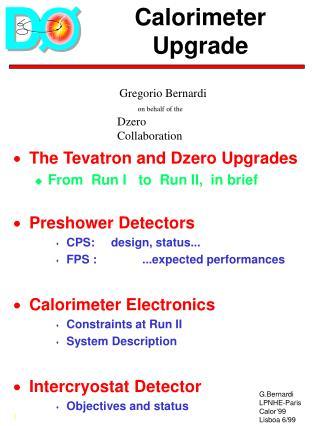 Calorimeter  Upgrade