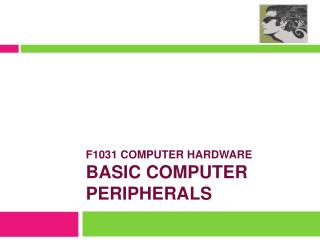 F1031 COMPUTER HARDWARE basic COMPUTER PERIPHERALS