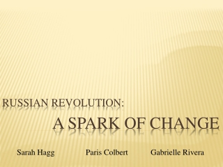 Russian Revolution: A Spark of Change