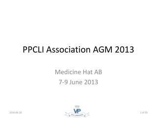 PPCLI Association AGM 2013