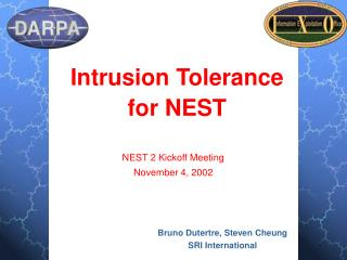 Intrusion Tolerance  for NEST