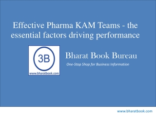 Effective Pharma KAM Teams - the essential factors driving p