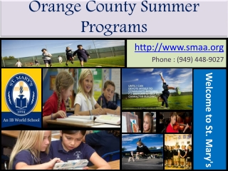 St. Mary's School | Orange County Summer Programs