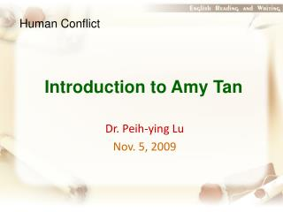 Introduction to Amy Tan