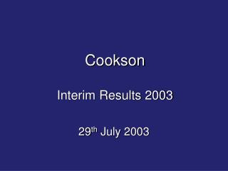 29th July 2003