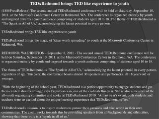 tedxredmond brings ted like experience to youth