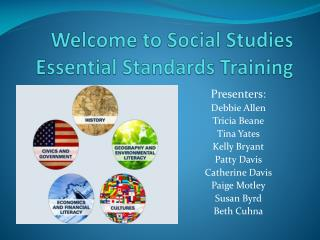 Welcome to Social Studies Essential Standards Training