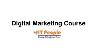 Digital Marketing training program - IT People