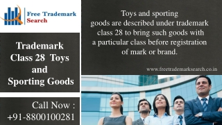 Trademark Class 28 | Toys and Sporting Goods