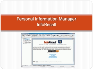 InfoRecall Personal Information Organizer