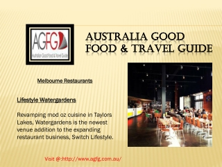 AGFG: Best Restaurants Melbourne in Australia