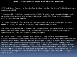 perla group enhances board with two new directors