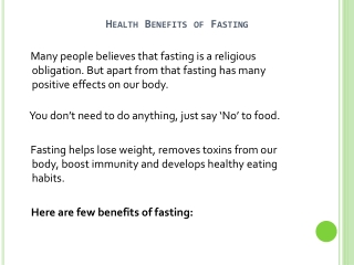 Fasting Health Benefits And Risks