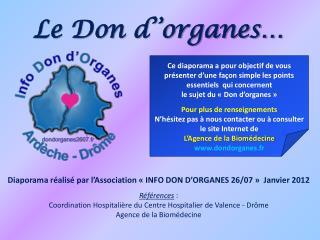 Le Don d  organes