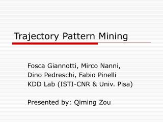 Trajectory Pattern Mining