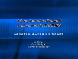 4  me journ e d  tudes nationales de l ANDIIS