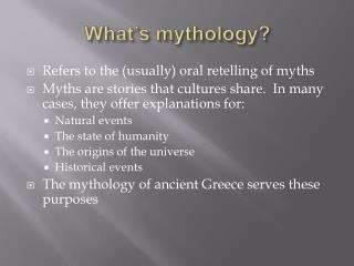 What s mythology