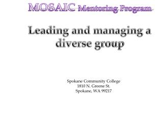 Leading and managing a diverse group