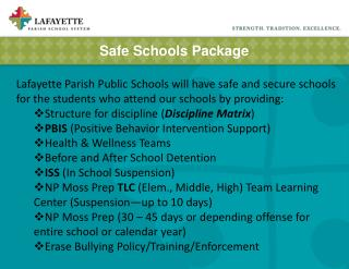 Safe Schools Package