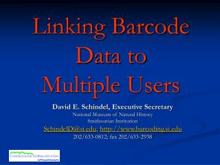 Linking Barcode Data to  Multiple Users